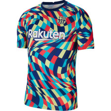 Nike FC Barcelona Shirt - Blue Void/Limelight