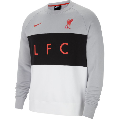 Liverpool FC Nike Air Crew Fleece - Grey/White