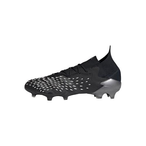 adidas Predator Freak.1 Firm Ground Boots - Black/Grey/White
