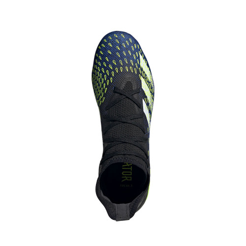 adidas Predator Freak.3 Firm Ground Boots - Black/White/Yellow
