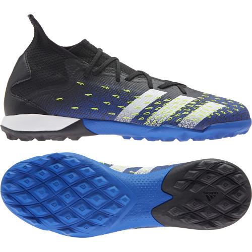 adidas Predator Freak.3 Turf Boots - Black/White/Yellow