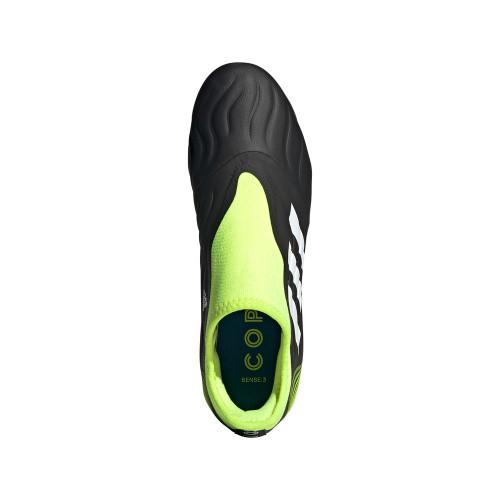 adidas Copa Sense.3 Laceless Firm Ground Boots - Black/White/Yellow