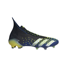 adidas Predator Freak+ Firm Ground Boots - Black/White/Yellow