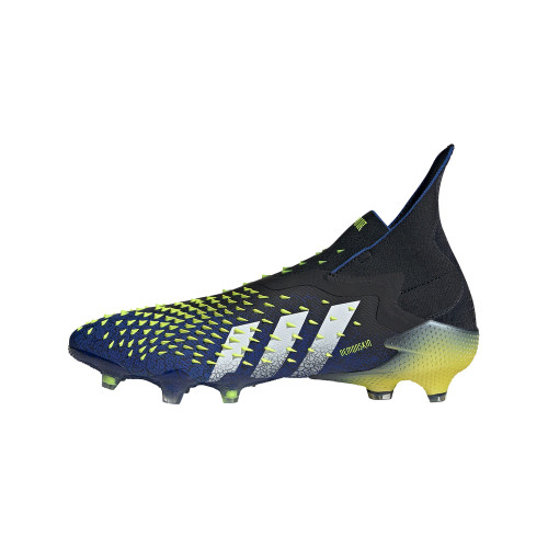 adidas Predator Freak+ Firm Ground Boots - Black/White/Yellow