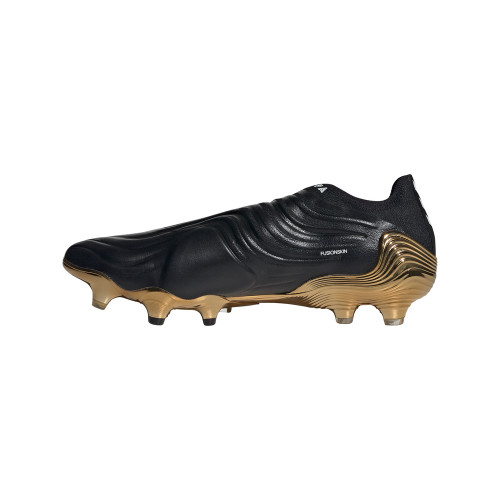 adidas Copa Sense+ Firm Ground Boots - Black/White/Gold