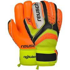 Reusch Pulse Prime Roll Finger GK Glove - Black/Orange