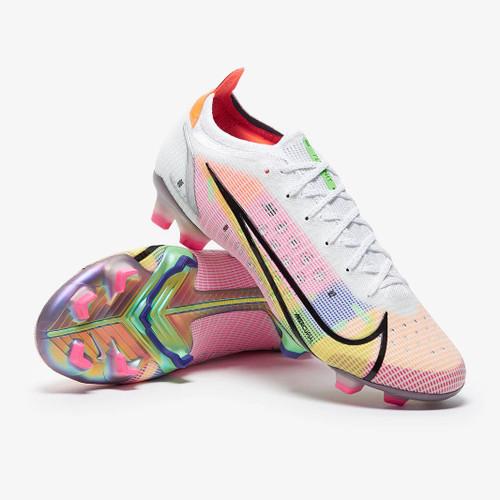 Nike Vapor 14 ELITE Firm Ground Boots - White/Silver/Raisin