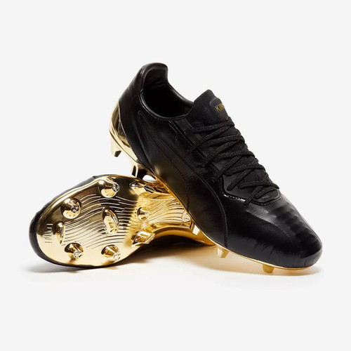 Puma KING Platinum Firm Ground Boots - Black/Gold