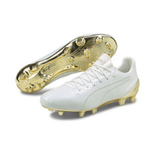 Puma KING Platinum Firm Ground Boots - White/Gold