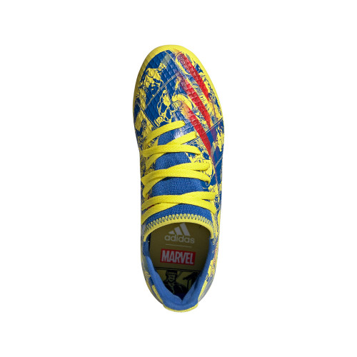 adidas X Ghosted .3 firm Ground JR - blue/vivid red/yellow