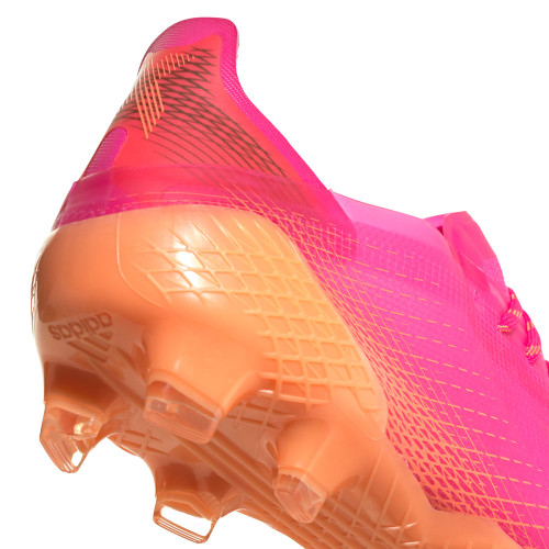adidas X Ghosted .1 Firm Ground Boots - Pink/Core Black/Orange