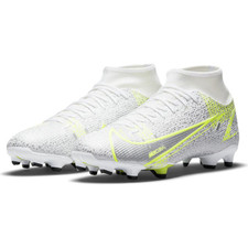 Nike Mercurial Superfly 8 Academy MG - White/Black-Metallic Silver-Volt