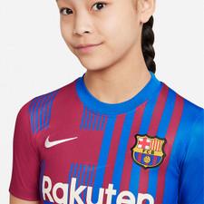 Nike FC Barcelona 2021/22 Stadium Home Youth Jersey - Soar/Pale Ivory