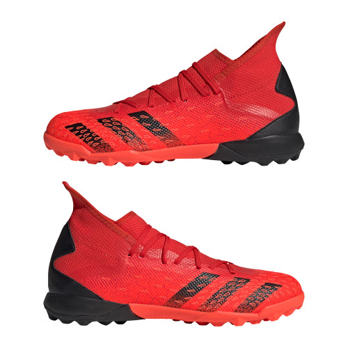 adidas Predator Freak .3 Turf Boots- Red/Black/Red