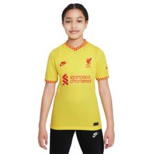 Nike Liverpool FC 2021/22 Stadium Third - Chrome Yellow/Red