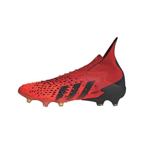 adidas Predator Freak + Firm Ground - Red/Black/Red