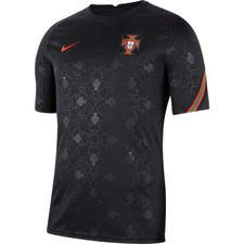 Nike Portugal Short-Sleeve Football Top - Black