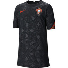 Nike Portugal Older Kids' Short-Sleeve Football Top - Black