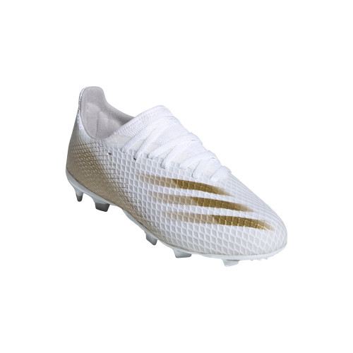 adidas X Ghosted .3 Firm Ground Boots JR - White/Gold/Grey