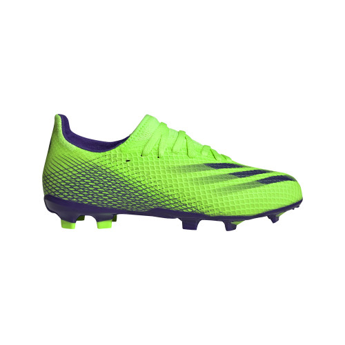 adidas X Ghosted .3 FG J - Signal Green/Energy Ink/Signal Green
