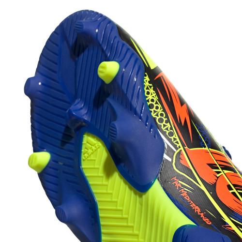 adidas Nemeziz Messi 19 .3 Firm Ground Boots JR - Royal Blue/Silver Metallic/Solar Yellow