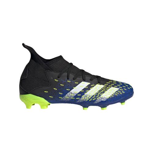 adidas Predator Freak .3 Firm Ground Boots JR - Core Black/Cloud White/Solar Yellow