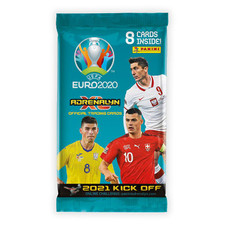 2020-21 Panini Adrenalyn Euro Kick-Off Cards (8 Cards Per Pack)