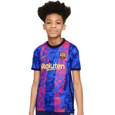Nike FC Barcelona 2021/22 Stadium Third - HYPER ROYAL/VARSITY MAIZE