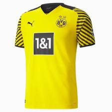 Puma BVB Home Shirt Replica SS Jr w/ Sponsor - Cyber Yellow-Puma Black