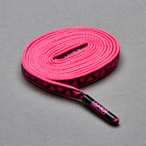 AMO Peformance Grip Lace - Pop Pink/Black
