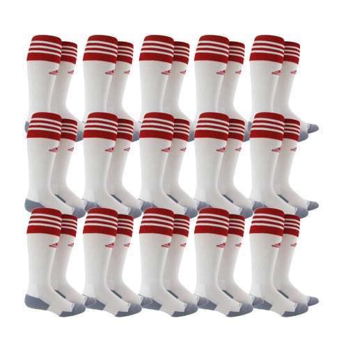 adidas Copa Zone Cushion II Sock - White/Univ Red - M - 18 Pairs