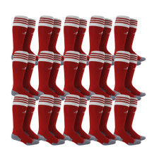 adidas Copa Zone Cushion II Sock - Power Red/White - M - 18 Pairs