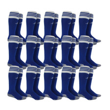 adidas Copa Zone Cushion II Sock - Cobalt/White - M - 18 Pairs