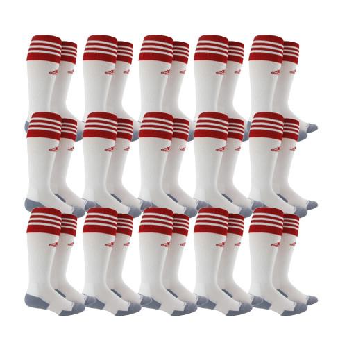 adidas Copa Zone Cushion II Sock - White/Univ Red - S - 18 Pairs