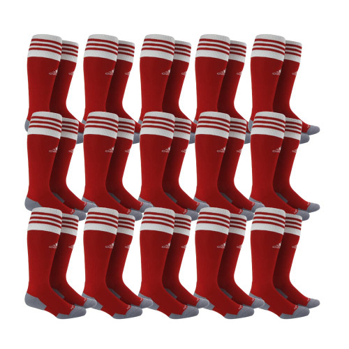 adidas Copa Zone Cushion II Sock - Power Red/White - S - 18 Pairs