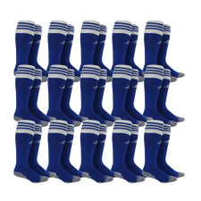 adidas Copa Zone Cushion II Sock - Cobalt/White - S - 18 Pairs