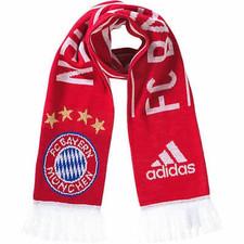 adidas Bayern Munich Official Scarf - Red/White