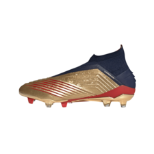 adidas Predator 19+ Firm Ground Zidane/Beckham Boots - Gold/Silver/Navy