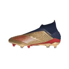 adidas Predator 19+ Firm Ground Zidane/Beckham Boots - Gold/Silver/Navy