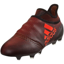 adidas X 17+ Purespeed Firm Ground Boot - CORE BLACK/SOLAR RED/SOLAR ORANGE
