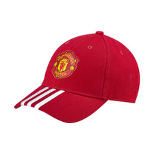 adidas Manchester United 3-Stripes Cap - Red