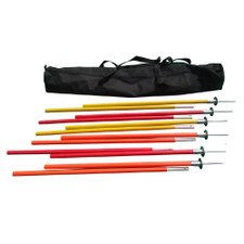 Premium Coaching Sticks - Set of 6 w/ carry bag - Yellow