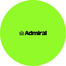 Admiral Flat Markers Flo Green- set of 10 w/ mesh bag