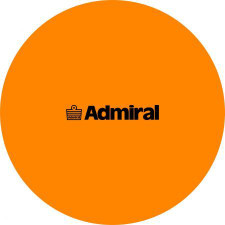 Admiral Flat Markers Flo Orange - set of 10 w/ mesh bag