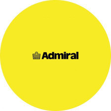 Admiral Flat Markers Flo Yellow - set of 10 w/ mesh bag