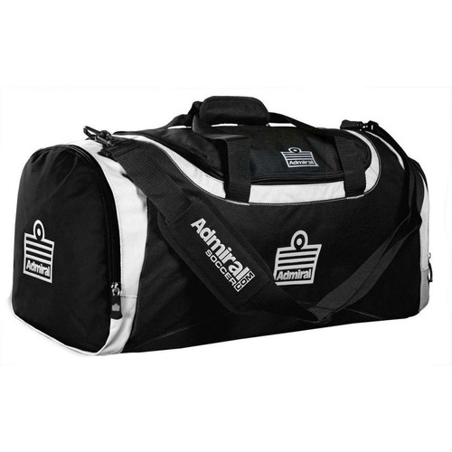 Admiral Branded Game Day Duffel Bag - Black/White