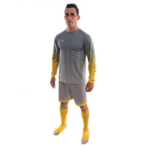 Admiral Zulu GK Kit - Silver/Gold - Medium: includes Jersey, shorts, socks