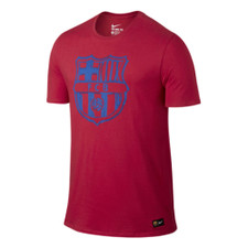 Nike FC Barcelona Crest Tee Youth - Red