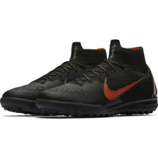 Nike SuperflyX 6 Elite Artificial Turf Boot - BLACK/TOTAL ORANGE-WHITE