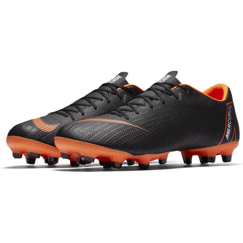 Nike Vapor 12 Academy Firm Ground Boot - BLACK/TOTAL ORANGE-WHITE